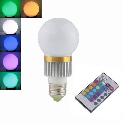 E27 3W Led Bulbs 16-Color Remote Control Ac(110V To 265V) Dimmable Light Bulbs Source(High Performance Led)