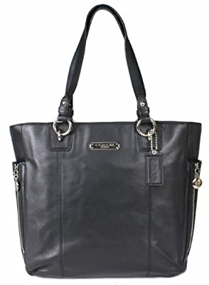 Coach Smooth Leather Gallery North South Zip Tote 19456