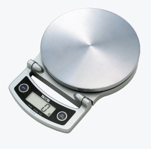 Tanita - KD-400 - Balance de Cuisine - Haute Précision - Facile à Ranger - 5 kg - Acier Inoxydable - Chrome