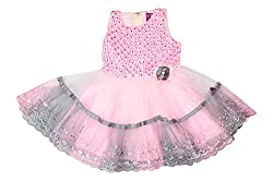 Style Loft Girls' Frock (FROCKS 114_2-3 Years, Pink, 2-3 Years)