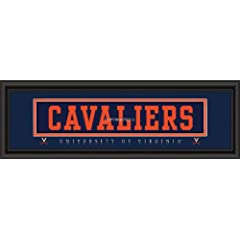 University of Virginia CAVALIERS Stitched Uniform Framed Print by Decade Awards