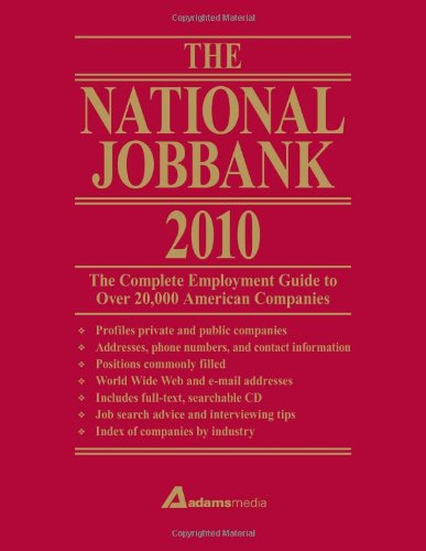 National Jobbank 2010: The Complete Employment Guide To Over 20,000 American Companies front-62285