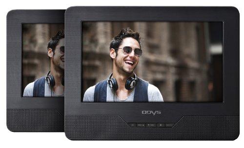 Seal 7 tragbarer DVD-Player mit zusätzlichem Bildschirm (17,8 cm (7 Zoll) TFT-Display, USB, SD-Card) schwarz