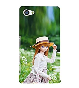 Doll with White Hat 3D Hard Polycarbonate Designer Back Case Cover for Sony Xperia Z5 Compact :: Sony Xperia Z5 Mini