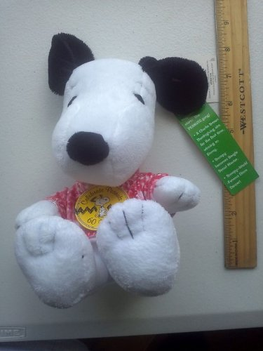 "Peanuts Celebrate 60 Years 1970's Decade 6"" Sitting Plush Snoopy Wearing Tie Dye Shirt - 1"