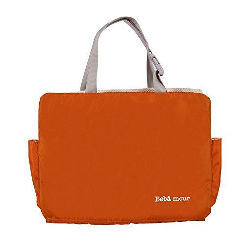 bebamour lightweight backseat organizer diaper tote bag with car hanging on clearance orange. Black Bedroom Furniture Sets. Home Design Ideas