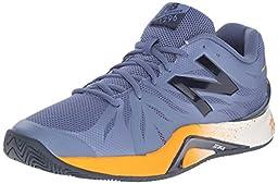 New Balance Men\'s 1296v2 Tennis Shoe, Grey/Orange, 11.5 D US