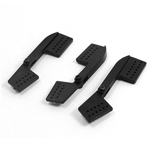 3Pcs Rc Airplane Aircraft Diy Assembly 43Mm+22Mm 6Mm Rocker Arm Black front-1038426