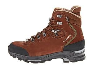 Lowa Women's Mauria GTX Flex WS Hiking Boot, Dark Brown/Olive, 7 M US
