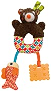 Woodours Mini Baby Activity Rattle and Teether Bear Take