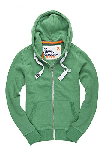 Superdry - Orange Label Ziphood, Felpa da uomo, lawn green marl vnw, S
