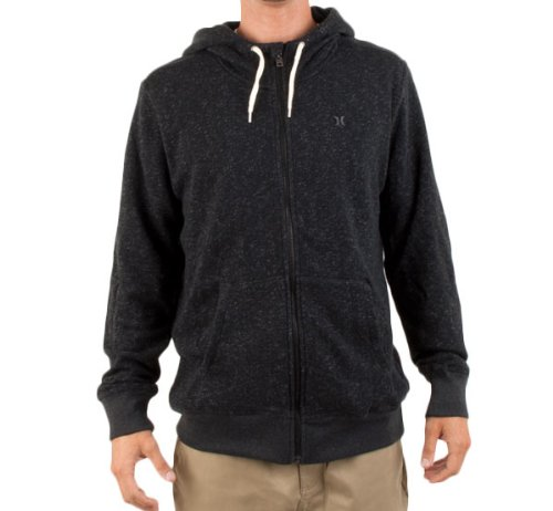 Hurley Men's Retreat Zip Hoodie - Heather Black (XL)