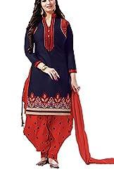 Meghali Women's Cotton Unstitched Salwar Suit (GS6_Multi-Coloured_Freesize)