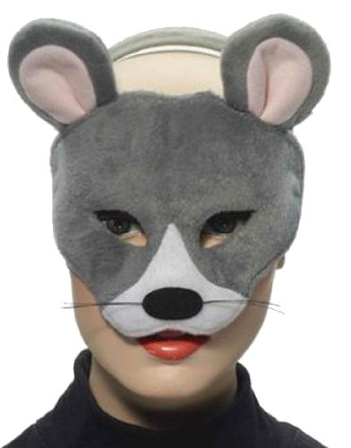 Forum Novelties Deluxe Plush Gray Mouse Animal Half Mask