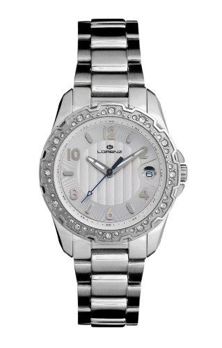 Lorenz 26735AA 026735AA - Reloj analógico de cuarzo para mujer, correa de acero color plateado