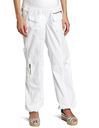 Ripe Maternity Women's Street Cargo Pant, White, X-Small