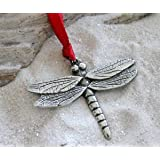 Pewter Dragonfly Fairy Christmas Ornament and Holiday Decoration