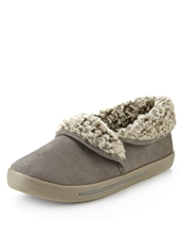 M&S Collection Faux Fur Bootie Slippers