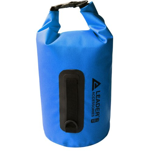 New Waterproof PVC Blue 15L Dry Bag for Boating, Kayaking, Fishing, Rafting, Swimming, and Camping