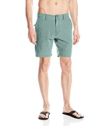 Volcom Men\'s SNT Faded Hybrid Short, Sage, 30