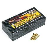 イーグル模型 Li-Poバッテリー E4000R/7.4V 45C+α ハードケース M4プラグ 品番3897V4