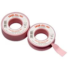 LA-CO Slic-Tite PTFE Pipe Thread Tape, Premium Grade, -450 to 550 Degree F Temperature
