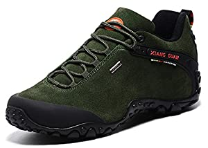 Xiangguan Mens Outdoor Hiking shoes Slip-resistant Waterproof Hiking Sneaker (Army Green 10)
