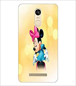 PrintDhaba Minnie Mouse D-4447 Back Case Cover for XIAOMI REDMI NOTE 3 (MEDIA TEK) (Multi-Coloured)