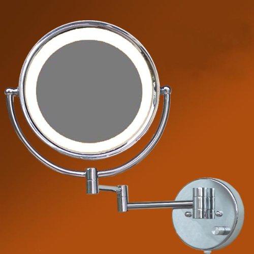 LOYWE LED Beleuchtet wunderschöne Kosmetikspiegel 1+10F Lichtstaerke verstellbar hochwertig LW37