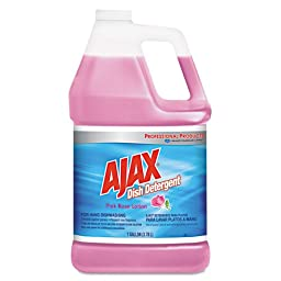 Ajax 14616CT Dish Detergent, Pink Rose, 1gal Bottle (Case of 4)
