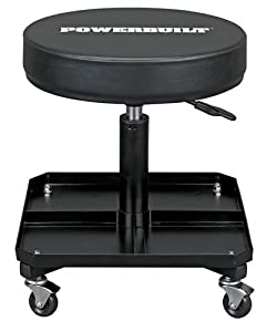 Powerbuilt 640834 Professional Pneumatic Rolling Shop Seat from Alltrade