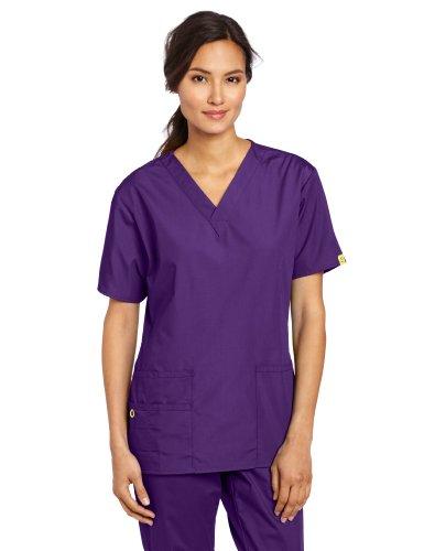 WonderWink Women's Scrubs Bravo 5 Pocket V-Neck Top, Grape, XX-Large (Scrubs For Women Grape compare prices)