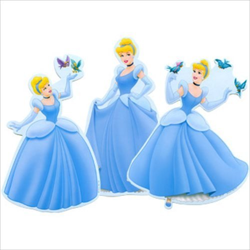 Cinderella 'Dreamland' Wall Decorations (3ct) - 1