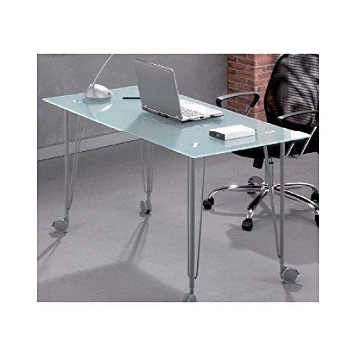 Mesa despacho acero y cristal - Mesa cristal despacho ...