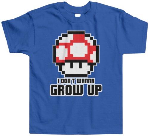 Threadrock Little Boys' I Don'T Wanna Grow Up Toddler T-Shirt 4T Royal Blue front-12078