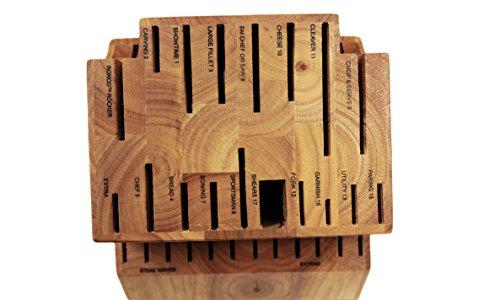 Ronco KN300300DRM Six Star+ 30-Slot Wooden Knife Block Holder