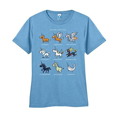 Shirt.Woot - Women's Unicorn Spotting T-Shirt - Baby Blue - Medium