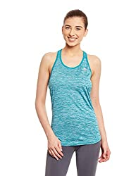 adidas Women's Body Blouse Top (AX8432_Green and Silver_M)