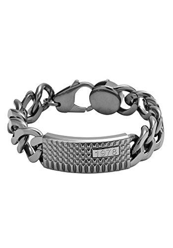 Diesel uomo bracciale in acciaio inox grigio DX0853060