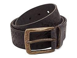 Breakbounce Men's Leather Belt (8907066079457_Large_Black)