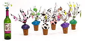 Cork Toppers: Funky Beaded Topper, Set of 3 Beverage Ideas