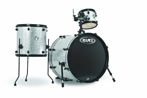 Mapex VOYAGER GO LARGE VRBFT248BPKCK 3-Piece Drum Set, Crystal Sparkle