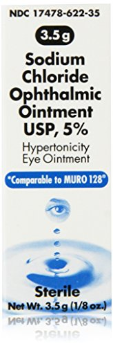 Sodium Chloride 5% Ophthalmic Ointment 0 .12 oz (3. 5 gm) (Compare to Muro 128.),Pack of 3 (Sodium Chloride Water compare prices)