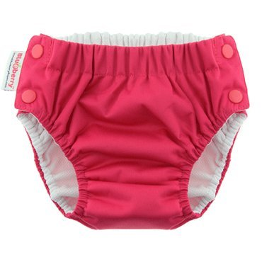 Blueberry Freestyle Swim Diapers (Medium (18-28 Lb), Raspberry Pink)