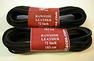 72 Inch 1/8 Rawhide Leather Shoelaces Bootlaces Camping Utility Leather Strips