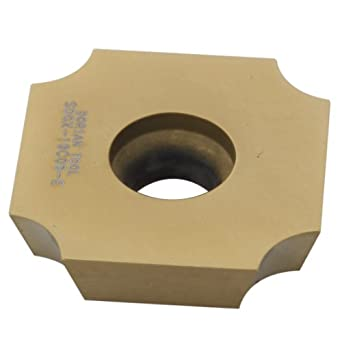 "Dorian Tool SDGX Multilayer Coated Carbide Square Convex Milling Indexable Insert, 0.1875"" Nose Radius, 3/4"" Insert, 3/16"" Thick (Pack of 10)"