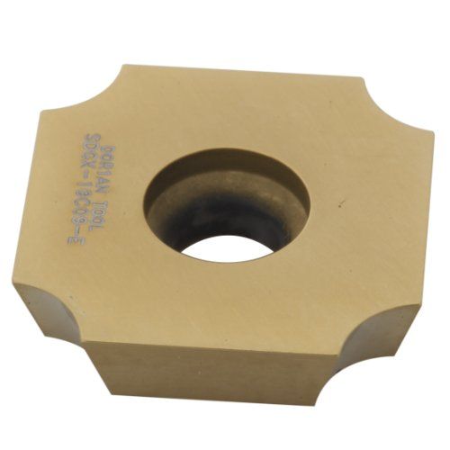 Dorian Tool SDGX Multilayer Coated Carbide Square Convex Milling Indexable Insert, 0.1719