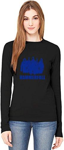 HammerFall In Blue T-Shirt da Donna a Maniche Lunghe Long-Sleeve T-shirt For Women| 100% Premium Cotton Ultimate Comfort Medium
