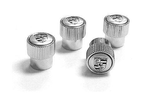 Genuine Porsche Crest Valve Stem Caps – Silver