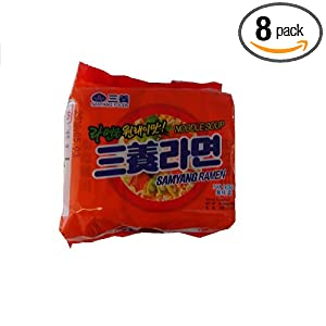 Samyang Ramen Noodle Soup, 21.50-Ounce Units (Pack of 8)